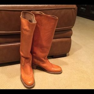 Frye Tan tall boots size 9